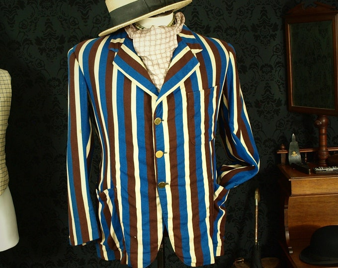 Sold....Rare Mens Boating Regatta College Vintage Blazer Dated 1950 in a size 40 medium or slim 42 Weathered Condition...Sold