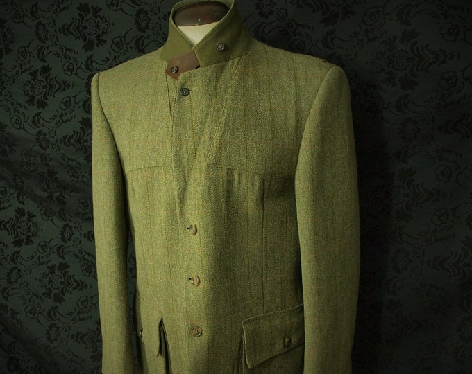 Good Mens hard wearing Derby Tweed Norfolk Field Sports Country Jacket in a Size 44 inch Large