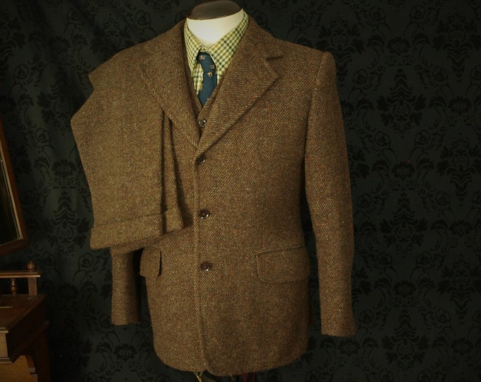 Sold Sold ,,,,,  Harris Tweed 3 Piece Suit Jacket and Waistcoat,,,,,, Sold Sold
