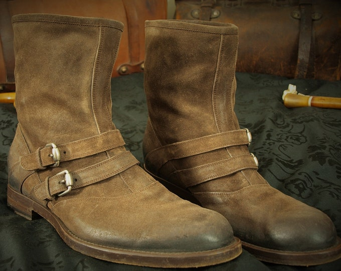 Quality Mens Suede Leather Gucci made in Italy Boots with Buckles in a  Size 12 RRP 1000