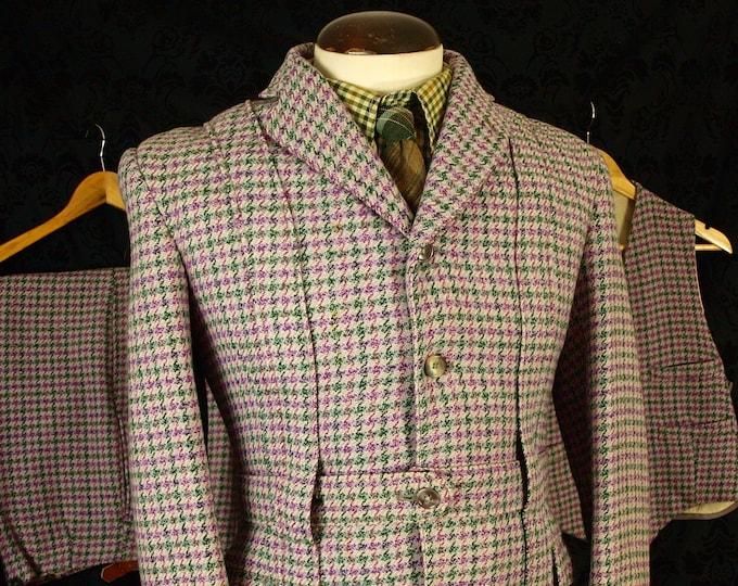 Sold.....Rare Mens Vintage Tweed Norfolk Jacket 3 piece Suit Plus Fours Edwardian 1900's...Sold