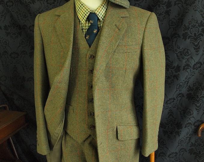 Sold...Mens Unused Gieves & Hawkes Bespoke Tweed 4 piece Suit ....Sold