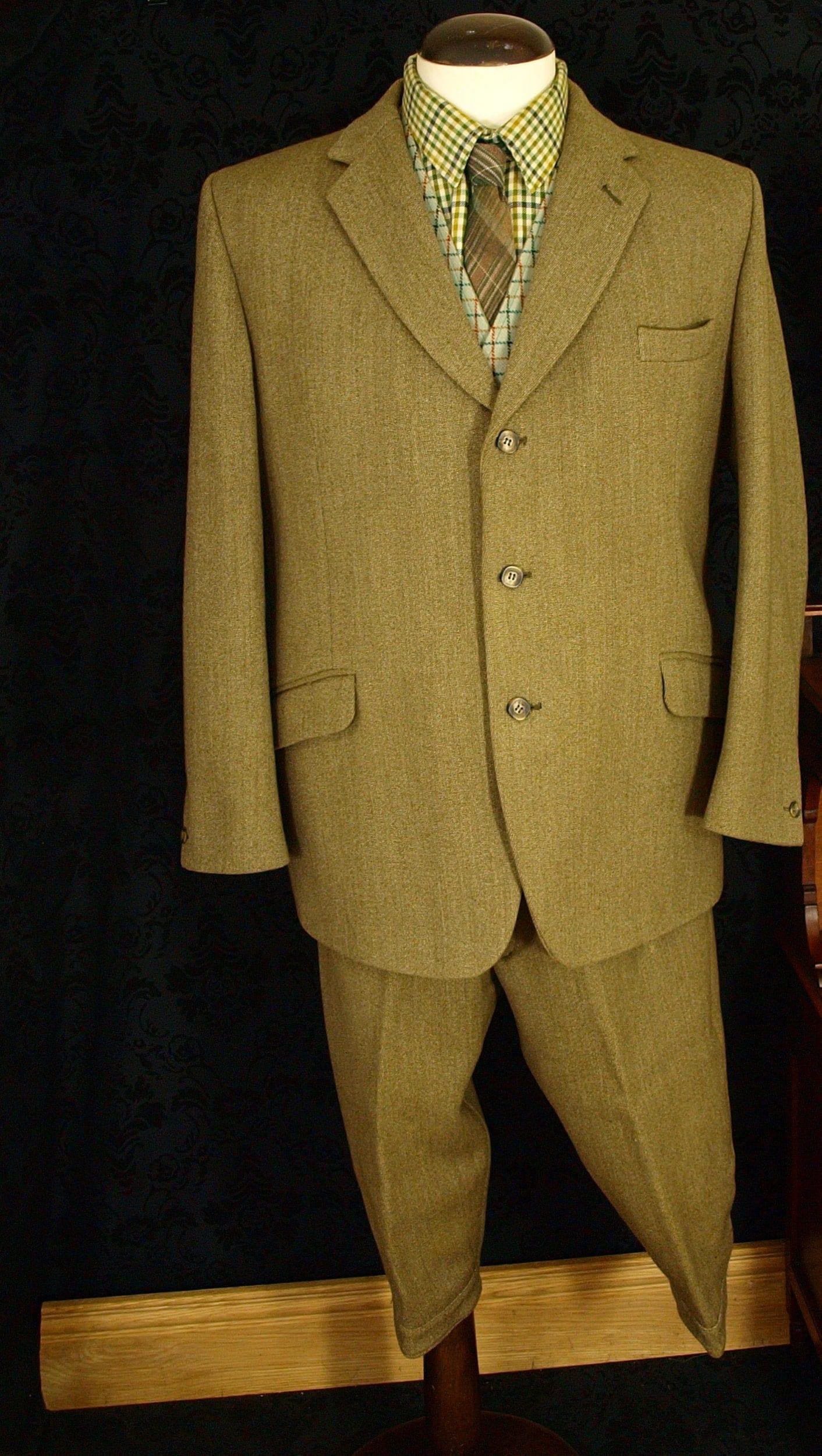 Superb Mens Gamekeeper Keepers Tweed Vtg Shooting Suit ...