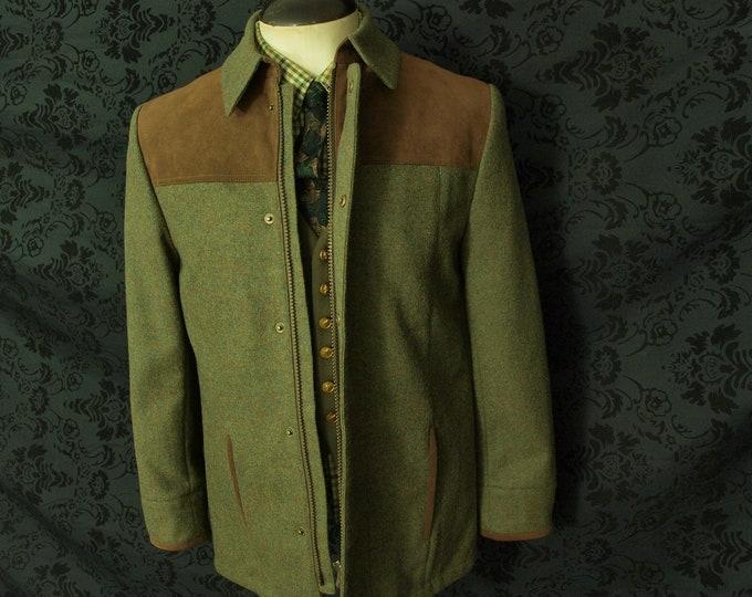 New Mens contemporary Richi Tweed Jacket Coat Size 38 small slim 40 medium