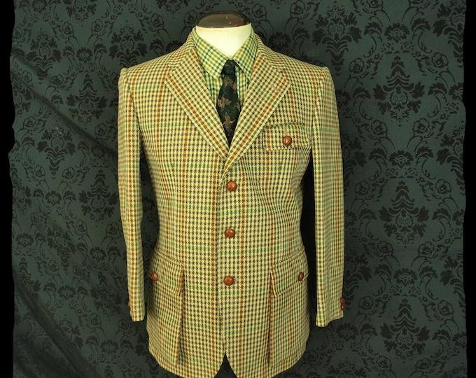Superb Mens Bladen Essex Supasax Norfolk Tweed Jacket Size 40 Short RRP 599