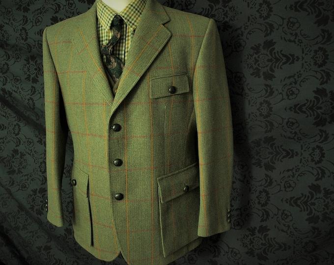 Good Mens Bladen Essex Supasax Norfolk Tweed Jacket 42 Large Short RRP 599