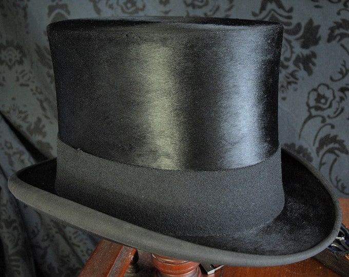 Good Mens or Ladies Lock & Co Vintage Silk Hat Original Box 54 cm 6 3/4 Small so even a Boys or Girls