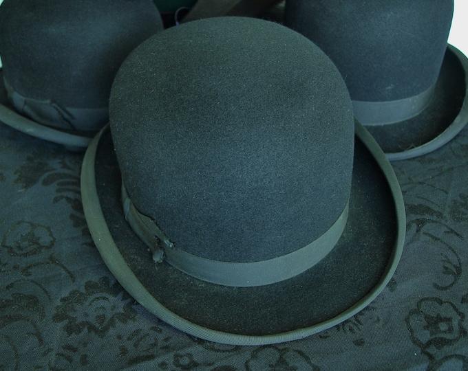Mens Ladies Henry Heath Vintage Equestrian Riding Hard Bowler Hat 55 cm 6 7/8 inch small medium