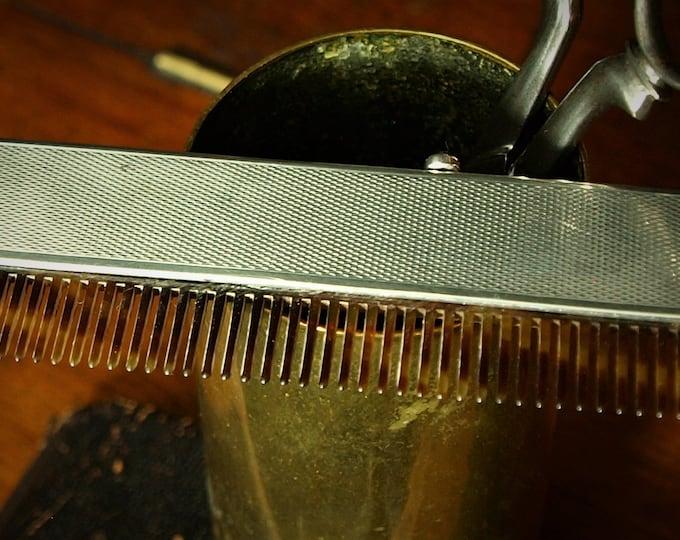 Sold....Rare Antique Vintage Art Deco Solid Silver Tortoiseshell Mens Beard Moustache Comb.....Sold