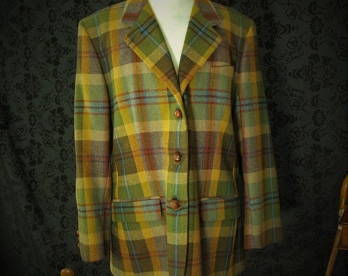 Great Ladies Vintage DAKS Country Tweed Jacket Size 42 Chest Extra Large