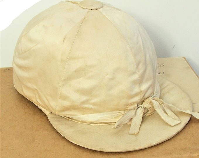 Rare Cork and Silk Ayres & Smith for Farrell Sons Vintage Antique Riding Jockeys Cap Hat 6 7/8 inch 56 cm