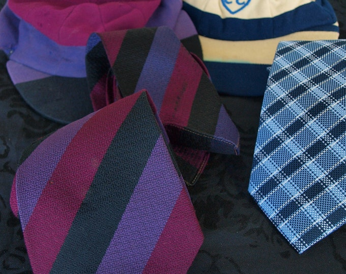 Rare Vintage college school cap and tie set eton new and lingford austin reed