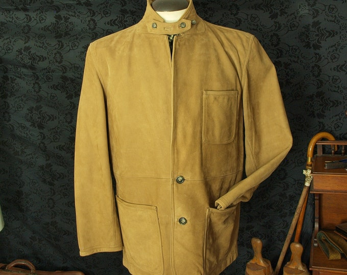 Superb Mens Orvis Bandera Soft Leather Suede Jacket Coat in a larger Sizing 42 44 inch Large chest RRP 599