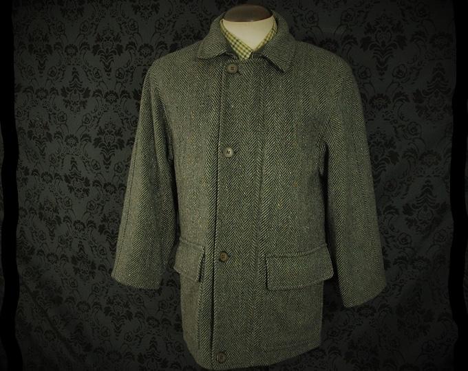 Mens vintage Donegal Tweed Jacket Coat Size 42 large short