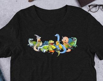 1651da0a9 Conuresaur Unisex T-Shirt • Sun, Gold Cap, Nanday, Green Cheek, Golden,  Jenday, Painted conure • Birb Apparel • Dinosaur Shirt