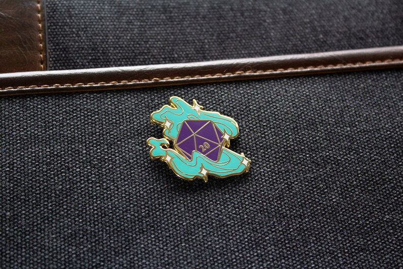 D20 Magical Enamel Pin Dungeons and Dragons / Table-top image 0