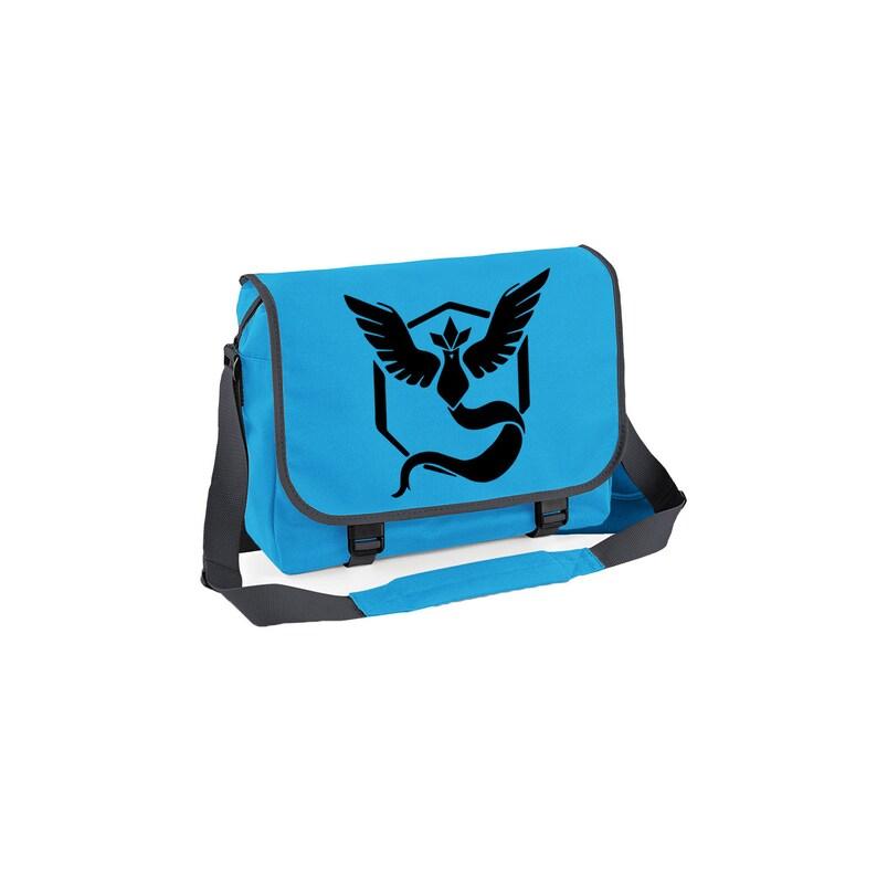Pokemon Go Inspired Team Mystic Messenger Bag