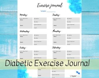 diabetic exercise journal printable