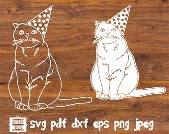 Cute Cat Clip Art Winter Cats Clipart Cute Holiday Cat | Etsy | Cat clipart,  Cat doodle, Winter cat