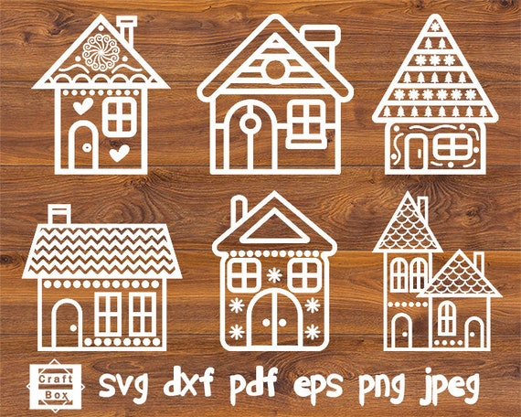 Gingerbread House Svg Christmas House Svg House Clipart Svg Etsy