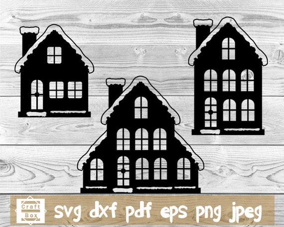 Christmas House Svg Cricut House Svg House Svg Christmas Etsy