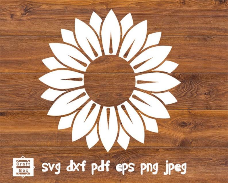 Sunflower Svg Flower Svg Sunflower Stamp Sunflower Bundle