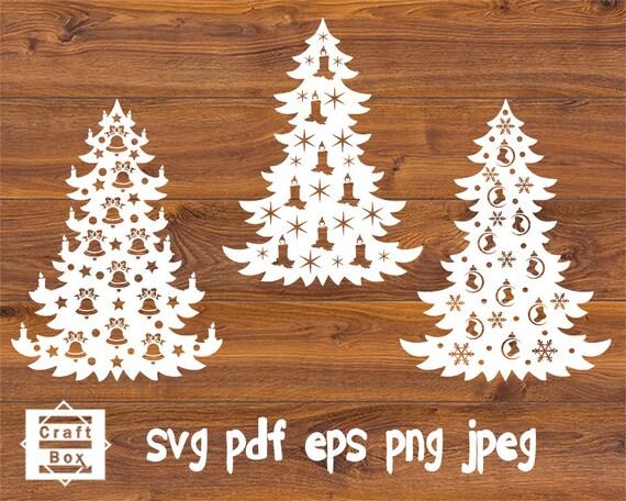Christmas Tree Christmas Tree Svg Christmas Template Etsy