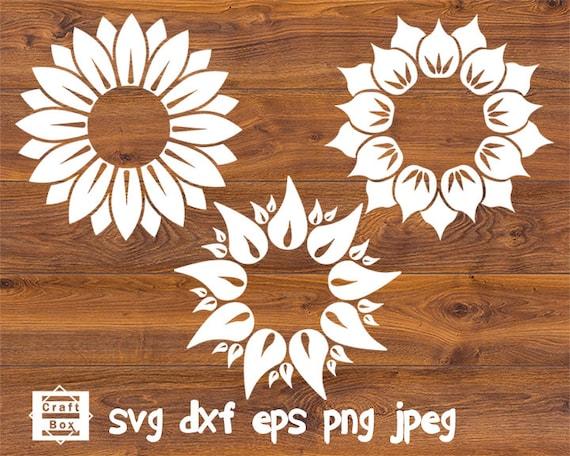 Download Sunflower bundle sunflower svg flower svg flower design | Etsy