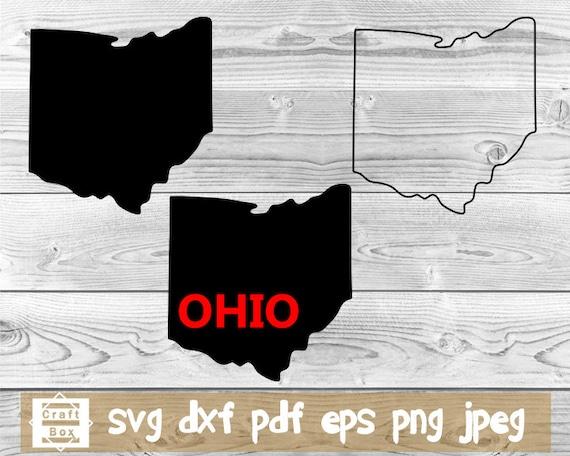 Ohio Svg Ohio State Svg Ohio Silhouette Ohio Clipart Ohio Etsy