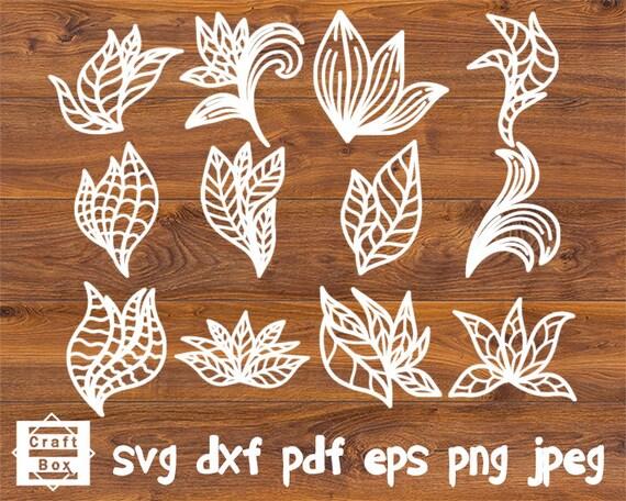Leaf svg Elegant Leaf template Paper Leaf SVG Paper flower leaves 21x Hand drawn Leaf SVG Floral svg Leaves pl-12 svg for cricut