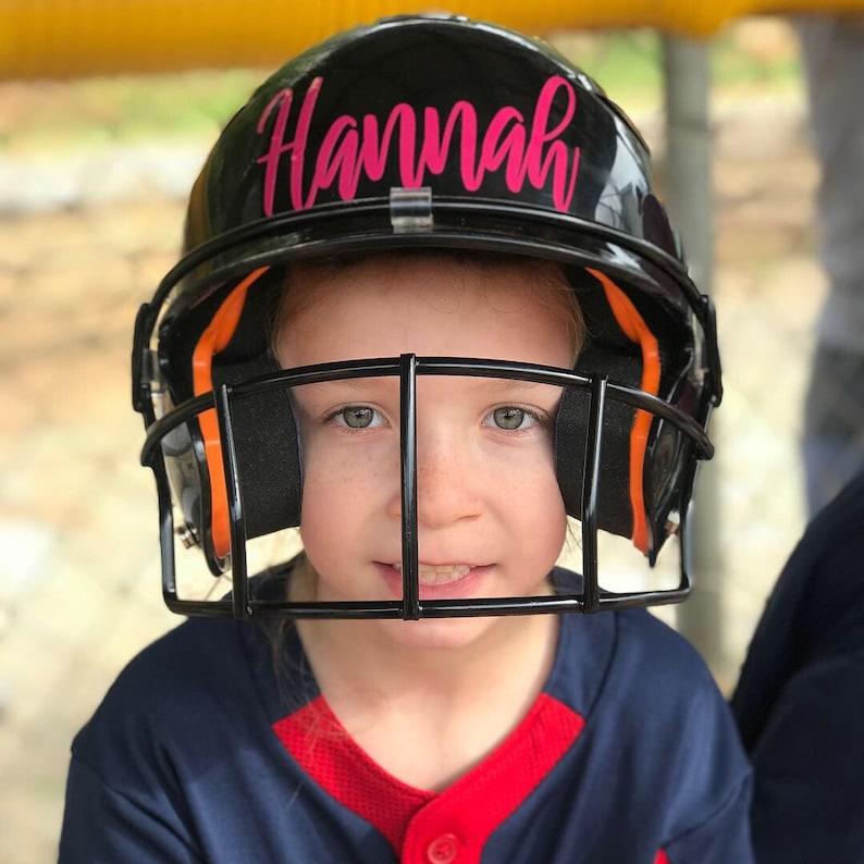 Softball Helmet Decal
