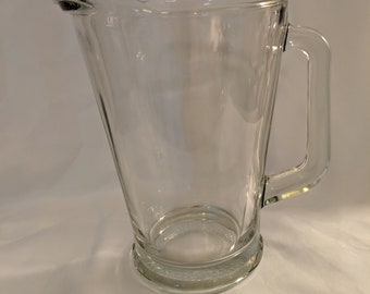 clear glass pitcher etsy