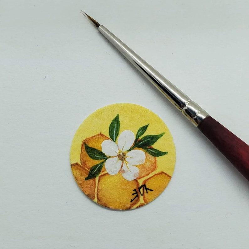 Resin Sealed Bracelet Hand Painted Bracelet Unique Bracelet Gardening  Nature Lover Perfect Gift Honeycomb Original Micro Watercolor