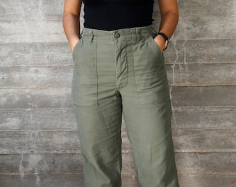 Vintage 70s High Waisted Army Pants  10164c63f71