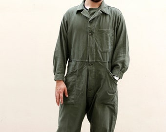 a2645f1375c9 Vintage Army Green Coverall