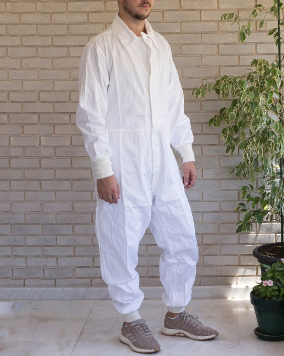 Vintage Army White Coverall | 80s Coverall Type II