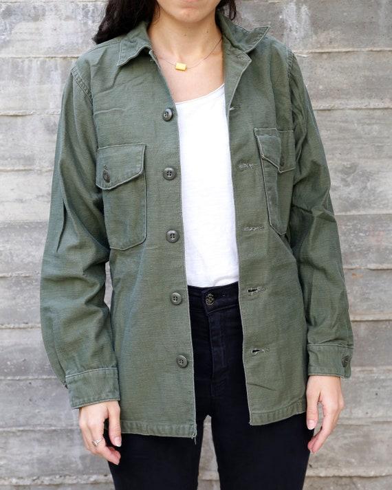 Vintage 70s Vietnam OG-107 Olive Green Army Jacket