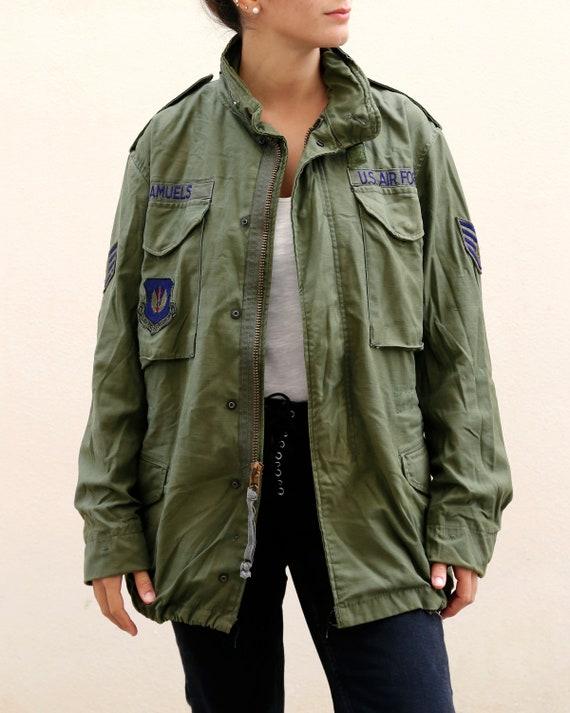 Vintage M-65 Field Jacket   Air Force Jacket Green