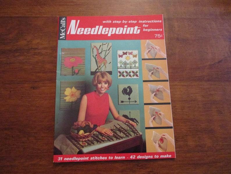 McCalls Needlepoint Magazine Vintage 1960s Home Decor Pattern Book Groovy Retro Designs