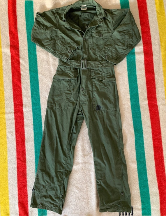 Vintage Vietnam era OG 107 Cotton Sateen Coveralls
