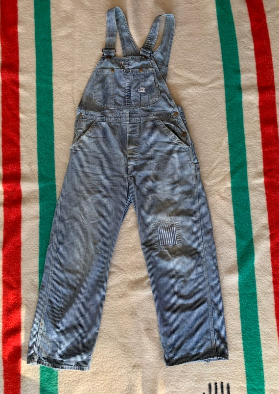 Vintage Lee Hickory Stripe Overalls made in USA wi