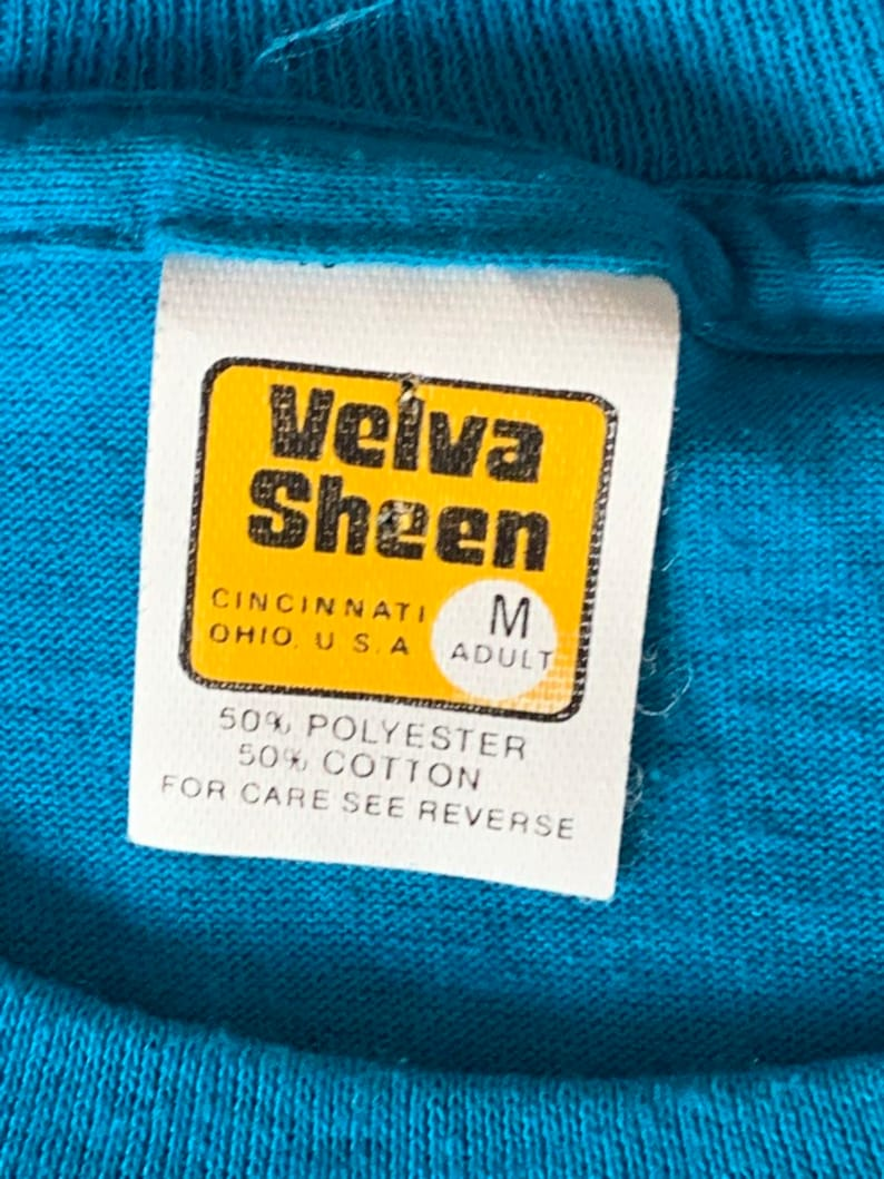 Vintage Velva Sheen Santa Fe T shirt single stitch 5050 New Mexico Navajo Native American