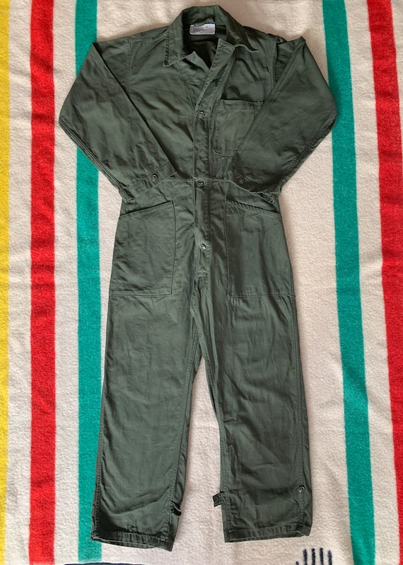Vintage Vietnam era OG 107 Cotton Sateen Coveralls
