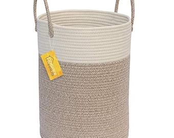 "78d3c9b85cea OrganiHaus Cotton Rope Basket | Larger Size 13"" x 18"
