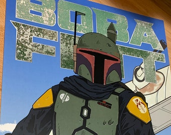 Star Wars Boba Fett (Mandalorian Ver.) print 11x17