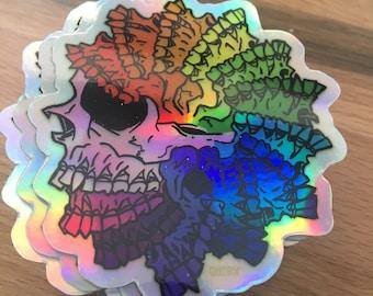 Deadly Pride Hologram Die Cut Sticker