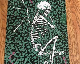 At Last - Skeleton resting in grass 11 x 17 print