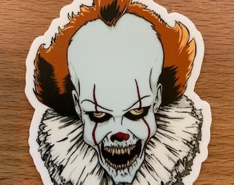 Pennywise IT Clown Die Cut Sticker