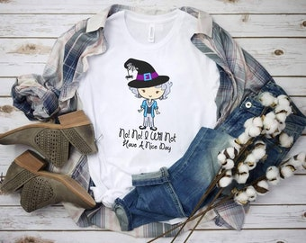 """Halloween Witch Golden """"Style Did I Give Any Indication That I Care""""  design t-shirt"""