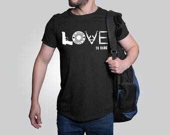 Love To Bang design t-shirt